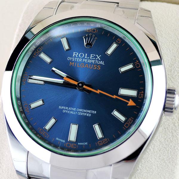 wholesale dealer df5af f7ce6 新品 ロレックス ROLEX 116400GV ミルガウス Zブルー ランダム ...