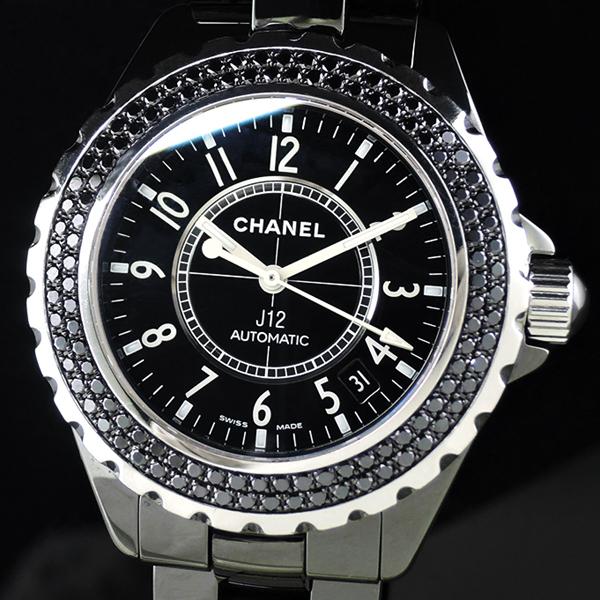 wholesale dealer 8d9dd 108eb シャネル CHANEL J12 H1417 黒セラ ブラックダイヤベゼル 38mm ...