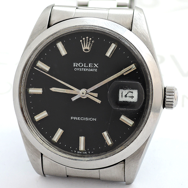 outlet store 87c32 020f3 ロレックス ROLEX オイスターデイト6694 5~番 SS 黒文字盤 ...