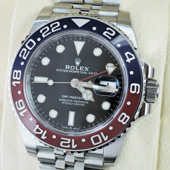 new style f2a76 38a19 ロレックス ROLEX GMTマスターⅡ 126710BLRO メンズ 時計 保証書 ...