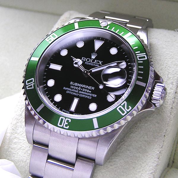new style d781e 2a113 ロレックス グリーンサブマリーナデイト 緑サブ 16610LV ...