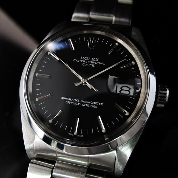 detailed look e34f5 71a97 ロレックス オイスターパーペチュアルデイト 1500 黒 ...